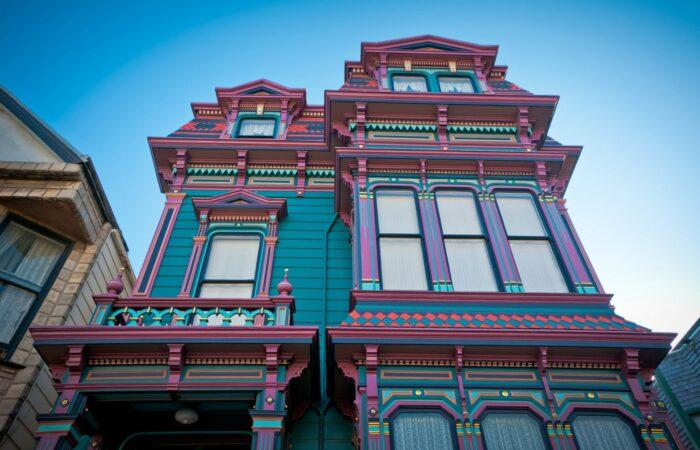Colorful house in San Francisco, California, USA