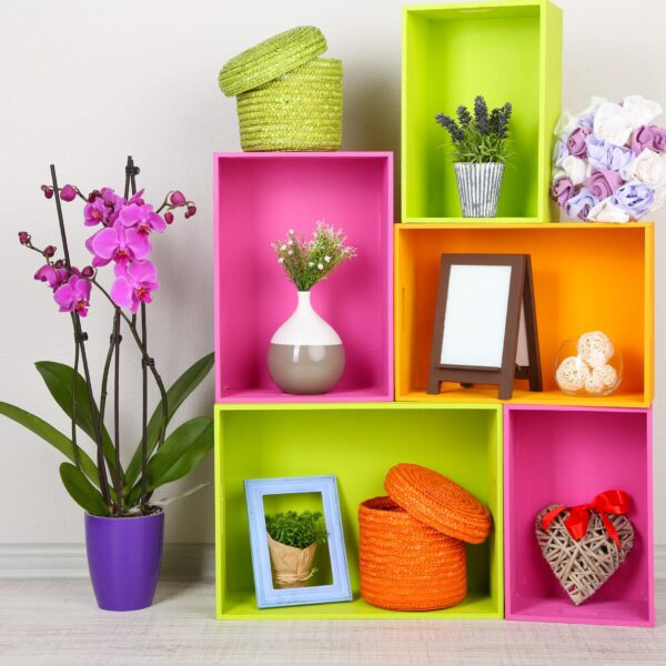 Beautiful,Colorful,Shelves,With,Different,Home,Related,Objects